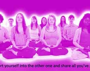 Four-Week Mindfulness Group Guided Meditation Course under light hypnosis